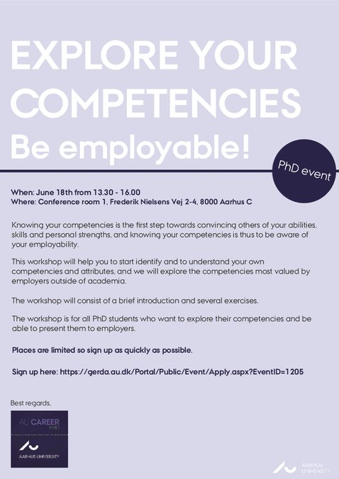 Au career phd event explore your competencies be employable email facebook linkedin stopboris Choice Image